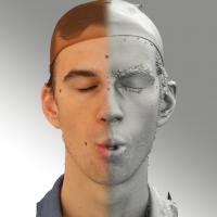 3D head scan of O phoneme - Kuba