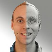 3D head scan of smiling emotion - Lukas