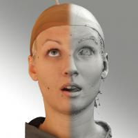 3D head scan of looking up emotion - Iva