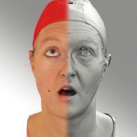 3D head scan of looking up emotion - Daniela