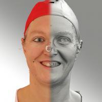 3D head scan of smiling emotion - Daniela