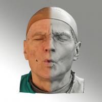 3D head scan of O phoneme - Zdenek