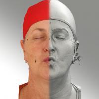 3D head scan of O phoneme - Jana