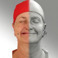 3D head scan of sneer emotion right - Jana