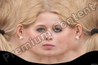 Young woman blonde head premade texture 0001