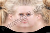 Young woman blonde head premade texture 0002