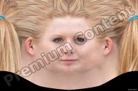 Young woman blonde head premade texture 0003