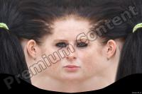 Young woman brunette head premade texture 0003