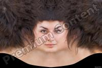 Young woman brunette head premade texture 0001