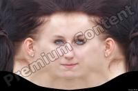 Young woman brunette head premade texture 0002