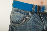 Pelvis blue jeans shorts of Wesley 0001
