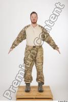 Soldier in American Army Military Uniform 0001