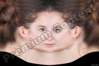 Young woman head premade texture 0001