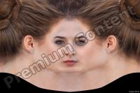 Young woman head premade texture 0005