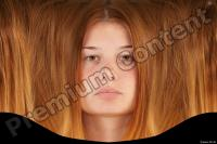 Young woman head premade texture 0003