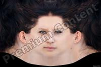 Young woman head premade texture 0007