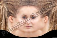 Young woman head premade texture 0002