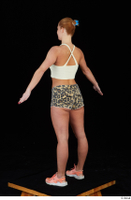 Chrissy Fox leopard shorts standing white tank top whole body 0012.jpg