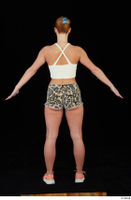 Chrissy Fox leopard shorts standing white tank top whole body 0013.jpg