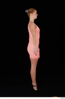 Chrissy Fox dress pink dress standing whole body 0007.jpg