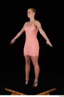 Chrissy Fox dress pink dress standing whole body 0010.jpg