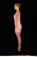Chrissy Fox dress pink dress standing whole body 0011.jpg