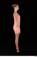 Chrissy Fox dress pink dress standing whole body 0015.jpg