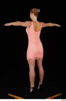 Chrissy Fox dress pink dress standing t-pose whole body 0004.jpg