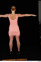 Chrissy Fox dress pink dress standing t-pose whole body 0005.jpg