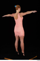 Chrissy Fox dress pink dress standing t-pose whole body 0006.jpg