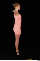 Chrissy Fox dress pink dress standing t-pose whole body 0007.jpg