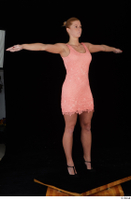 Chrissy Fox dress pink dress standing t-pose whole body 0008.jpg