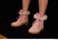 Cayla Lyons foot pink winter shoes 0002.jpg