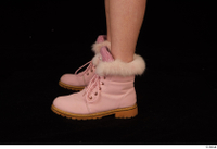 Cayla Lyons foot pink winter shoes 0003.jpg