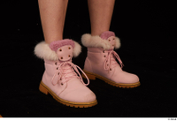 Cayla Lyons foot pink winter shoes 0008.jpg