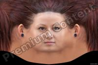 Young woman head premade texture 0010