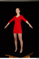 Kyoko clothing red dress standing whole body 0010.jpg