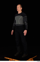 George black thermal underwear clothing standing whole body 0002.jpg
