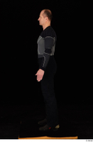 George black thermal underwear clothing standing whole body 0003.jpg