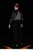 George black thermal underwear clothing standing whole body 0004.jpg