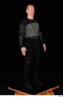 George black thermal underwear clothing standing whole body 0008.jpg