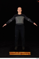 George black thermal underwear clothing standing whole body 0009.jpg