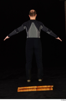 George black thermal underwear clothing standing whole body 0014.jpg