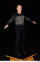 George black thermal underwear clothing standing whole body 0017.jpg