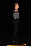 George black thermal underwear clothing standing whole body 0018.jpg