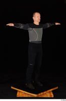 George black thermal underwear clothing standing whole body 0019.jpg
