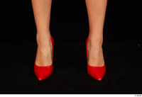 Victoria Pure foot red high heels shoes 0001.jpg