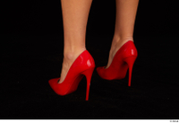 Victoria Pure foot red high heels shoes 0006.jpg