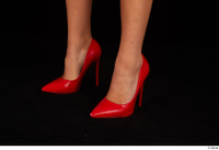 Victoria Pure foot red high heels shoes 0008.jpg