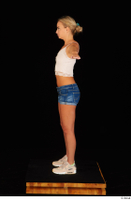 Victoria Pure blue jeans shorts pink top standing t-pose whole body 0007.jpg